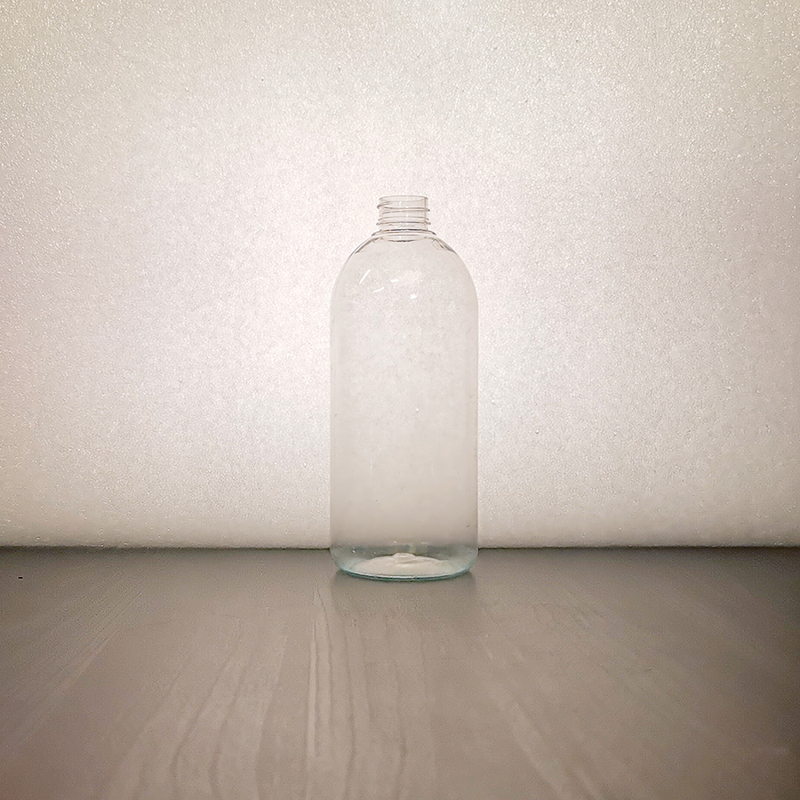 PET pyöreä-olkainen 500 ml muovipullo 24/410