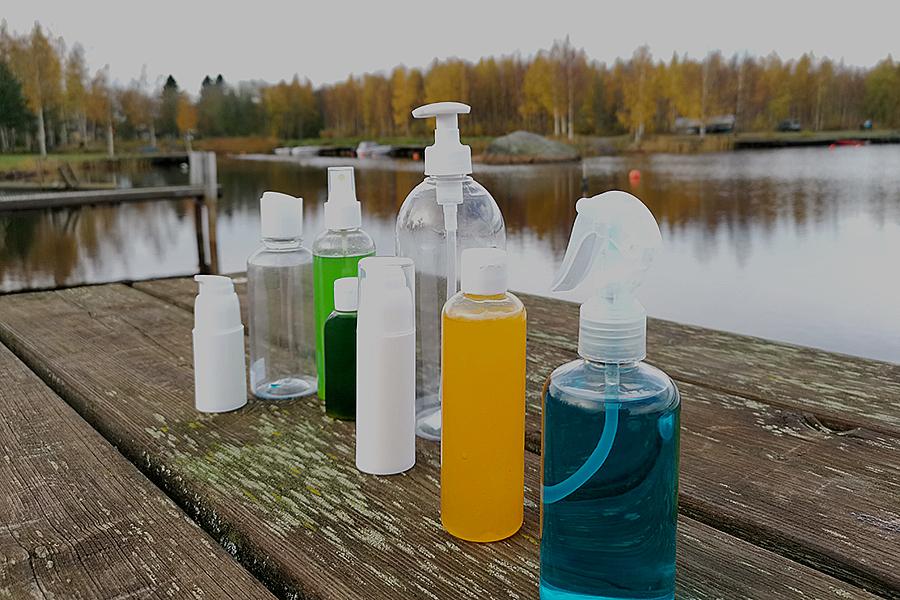 Tukkukauppa PE ja PET muovipullo Sumutinpullo malli koko väri