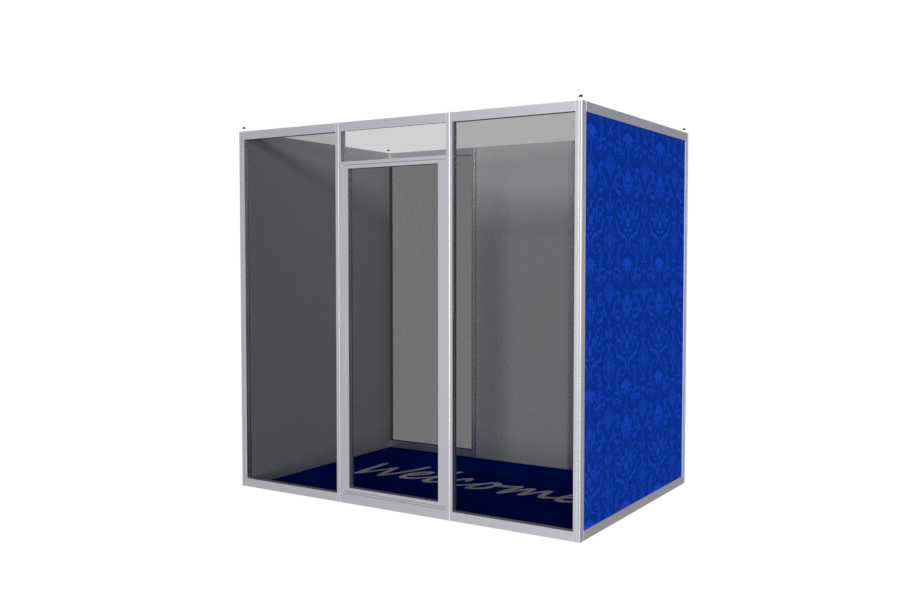 Silent booth from aluminum profiles