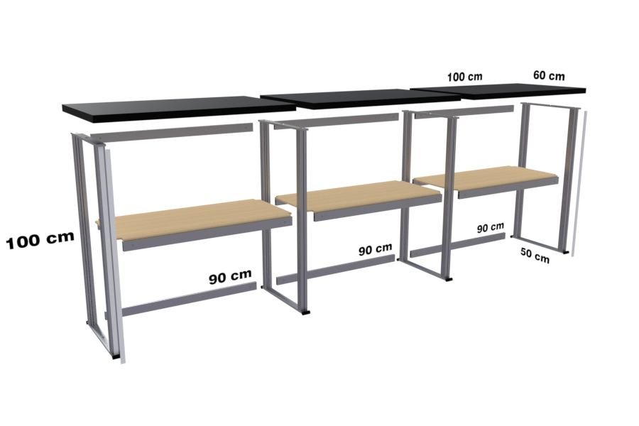 Easy exhibition counters at any size