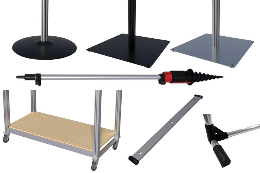 Foot for aluminum profile construction