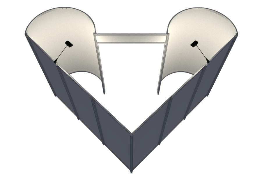 Rounded heart aluminum profiles