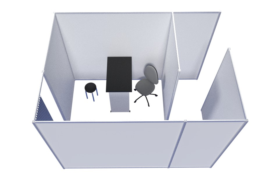 Rapid temporary office spaces and dividers