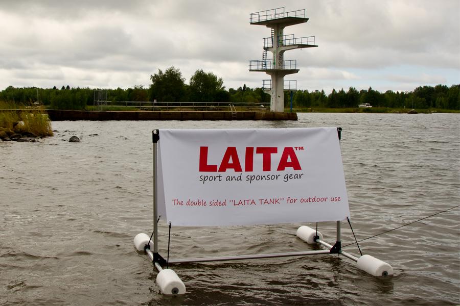 Floating advertising banner