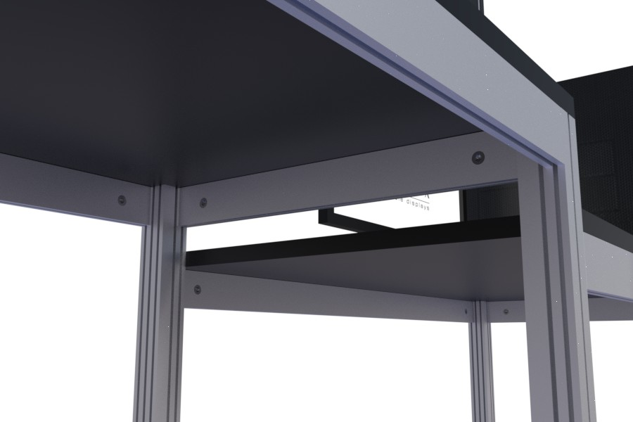 Lockable, adjustable table and workstation