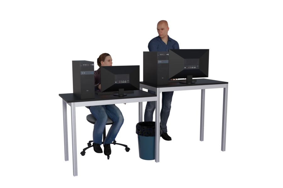 Workstation for ffice and production facilities
