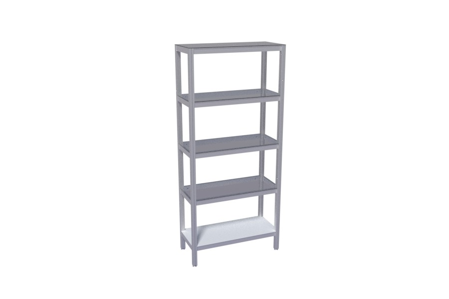 Shelves for production line and assembly