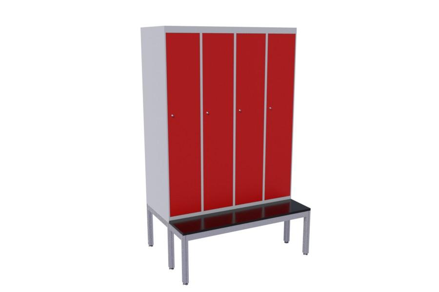 Furniture piedestals from aluminum profiles